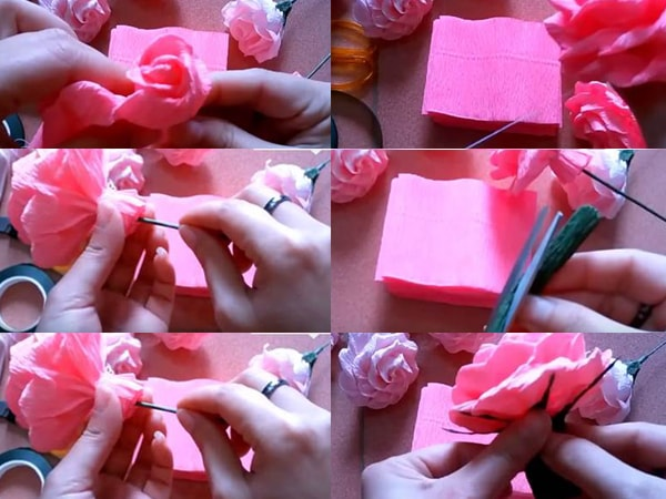 Cách làm hoa hồng bằng giấy đơn giản tại nhà